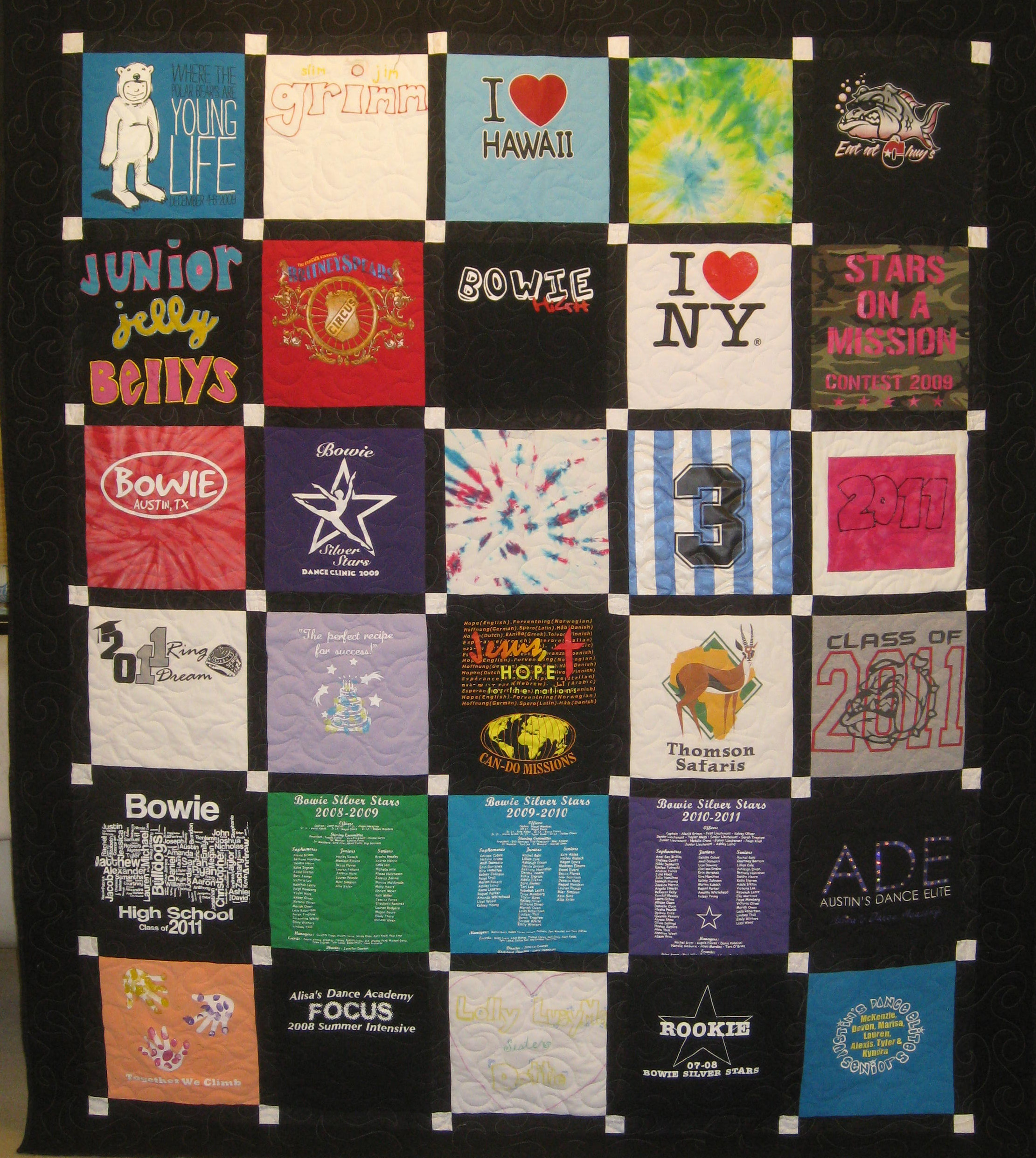 T-shirt Quilt Service | Over The Top Quilting Studio : pictures of tshirt quilts - Adamdwight.com