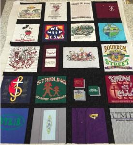 Pat's t-shirt quilt