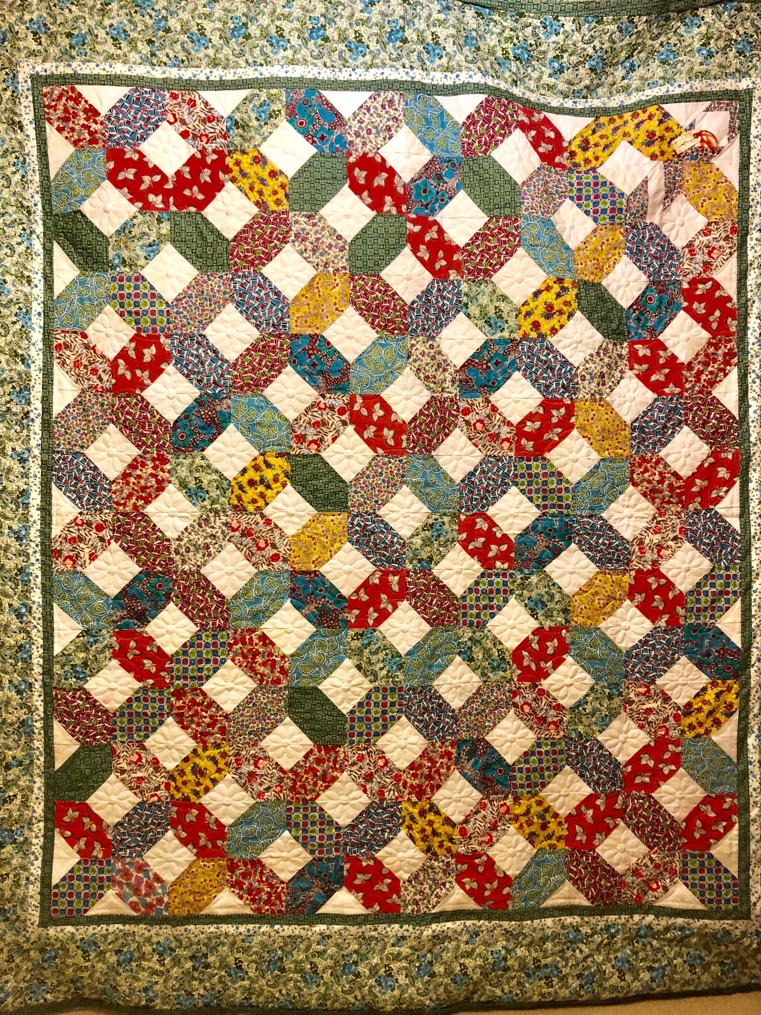 Quilt Made From Heritage Fabrics Over The Top Quilting