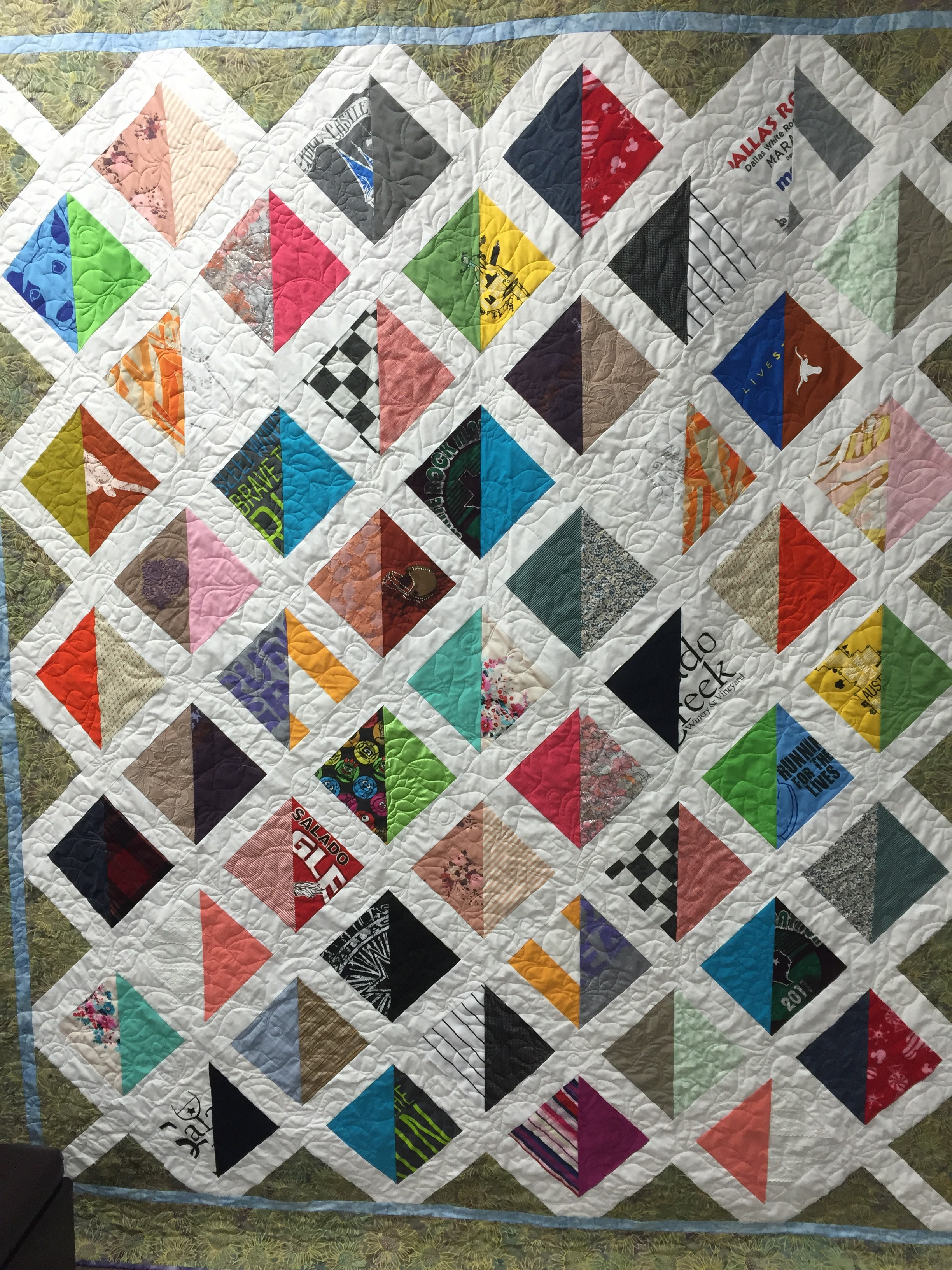liz s clothes in a memory quilt to comfort her mom over the top
