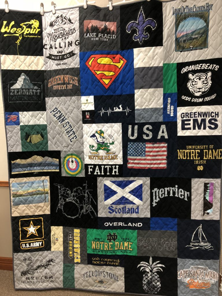 Randomized T Shirt Quilt Layout Over The Top Quilting Studio